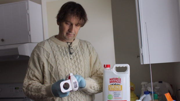 "Simon Andrew has bleached the walls of his rental property several times and hired a professional cleaner after the last tenants left his place ""covered in feces."""