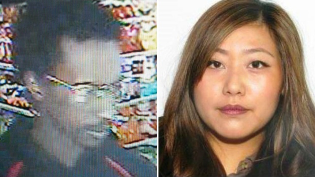 Detectives want to question Yu Chieh Liao, right, also known as Diana Liao, who may be travelling with this man, who is unknown to police.