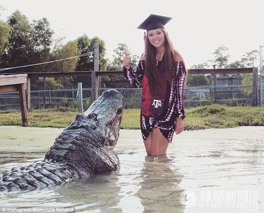 美国大学生毕业演讲_美国21岁美女大学生与900斤巨鳄同照毕业照 - 生活新闻 - 温哥华 ...
